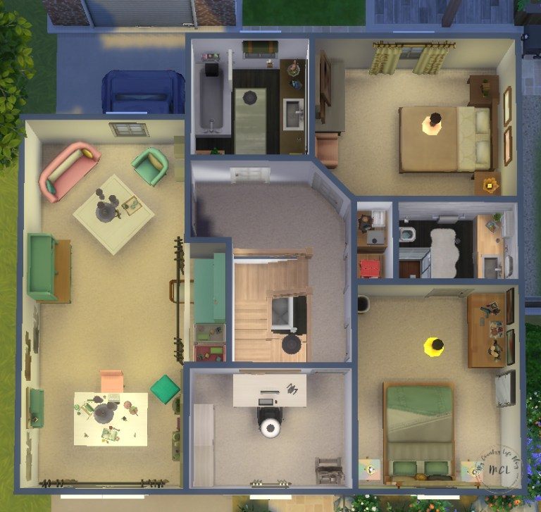 sims 4 house ideas - my country life 2
