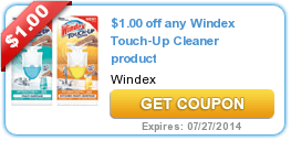 coupons, Printable Coupons, Store Match-Ups, walgreens, Walgreens Ads You can print out a NEW $ Windex Touch-Up Coupon! Make sure to click on the yellow Share tab to get the coupon.