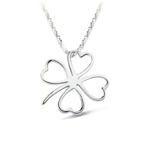 Silver Four Leaf Clover Necklace Only $2.37 Shipped