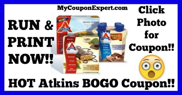 Atkins BOGO Coupon