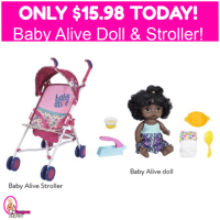 Baby Alive Doll Snackin' Noodles AND Stroller $15.98 TOTAL!  Hurry!!!