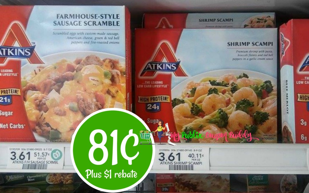 Atkins Entrees 81¢ at Publix (Plus $1 rebate)