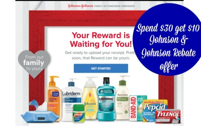 Johnson & Johnson Spend $30 Get $10 Rebate