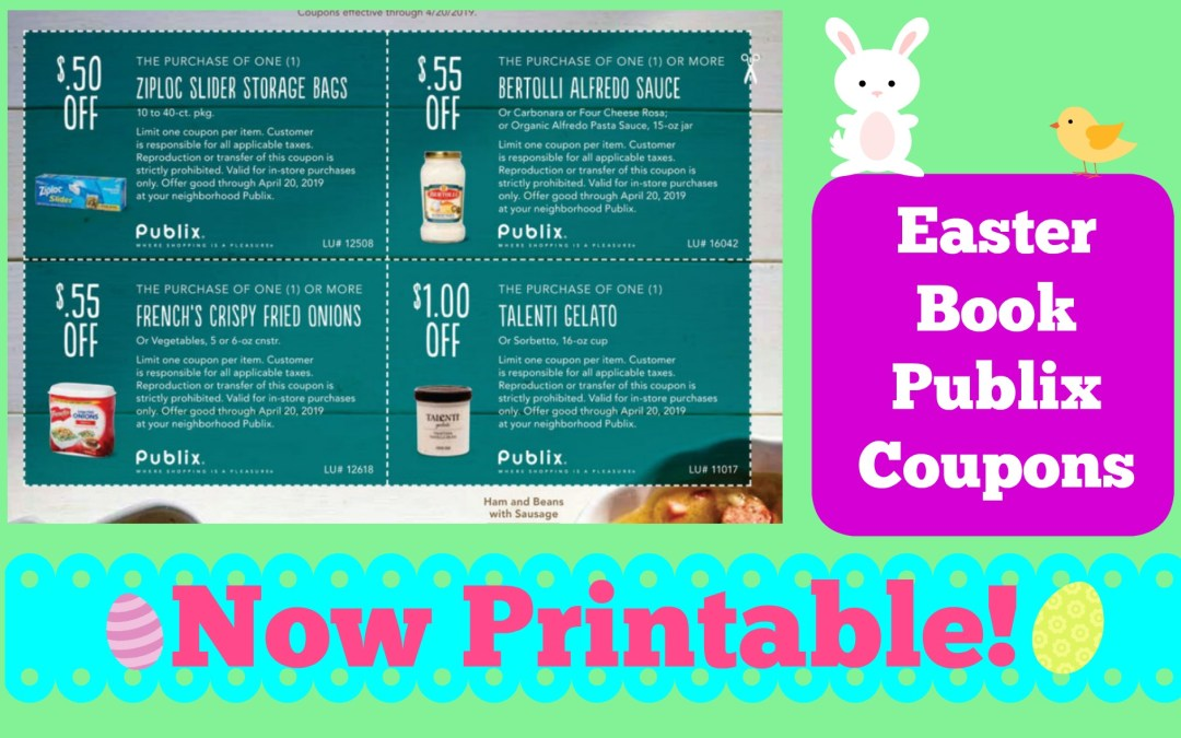New Publix Easter Coupon Book – Now Printable