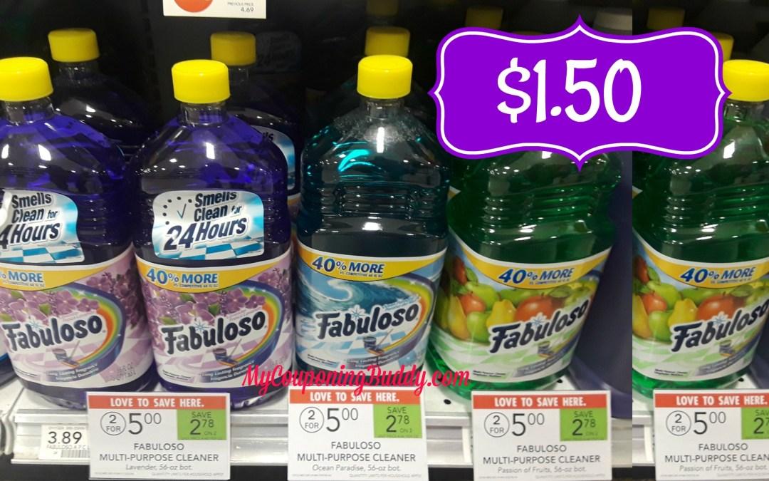Fabuloso Multi Purpose Cleaner $1.50 at Publix