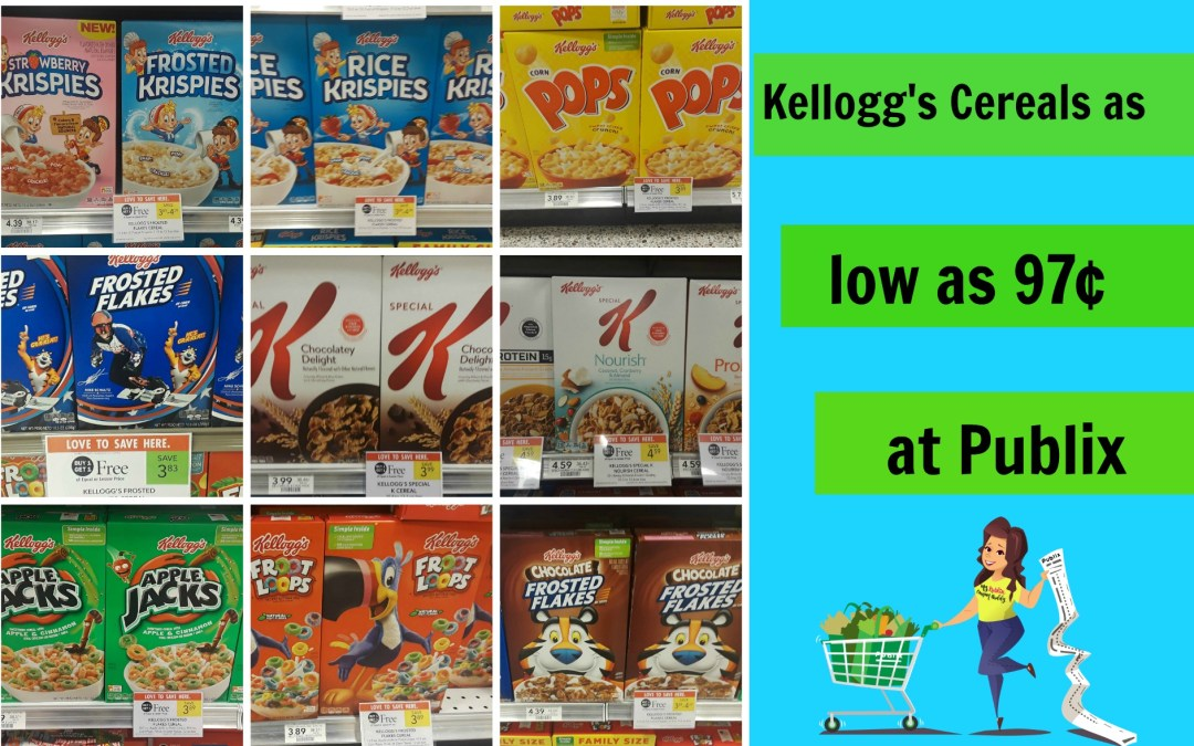 Kellogg's Cereals as low as 97¢ at Publix