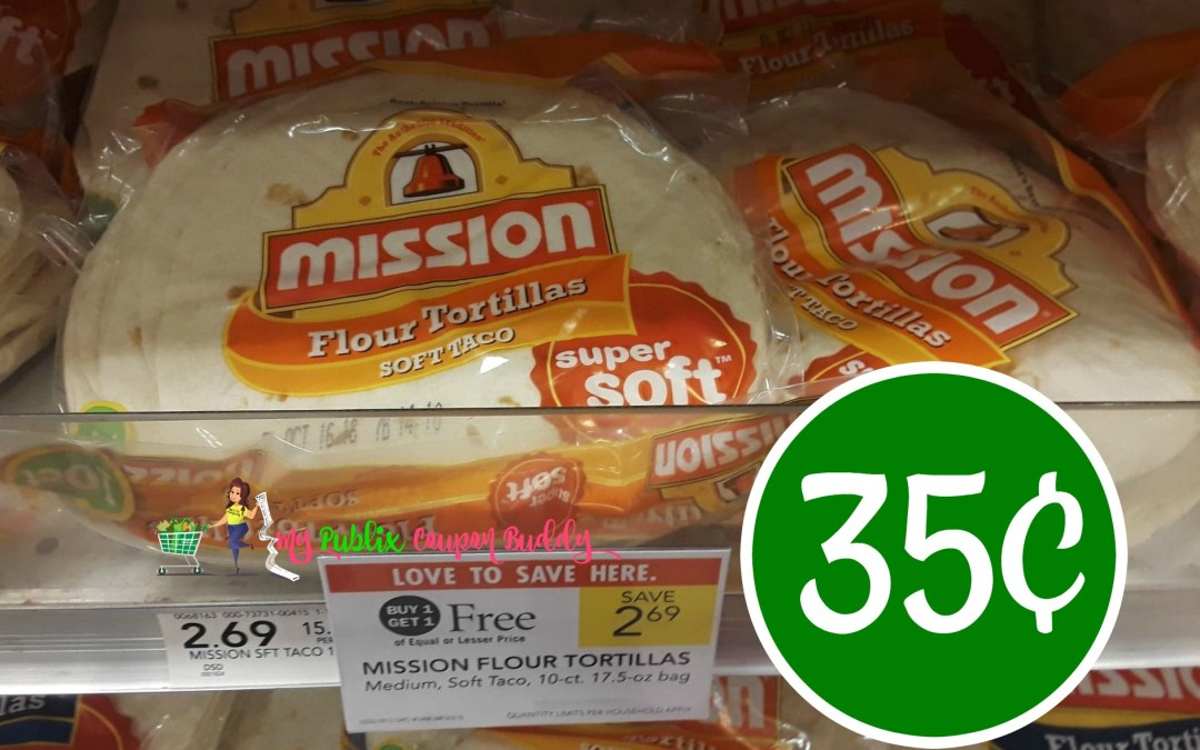 Mission Tortillas 35¢ at Publix