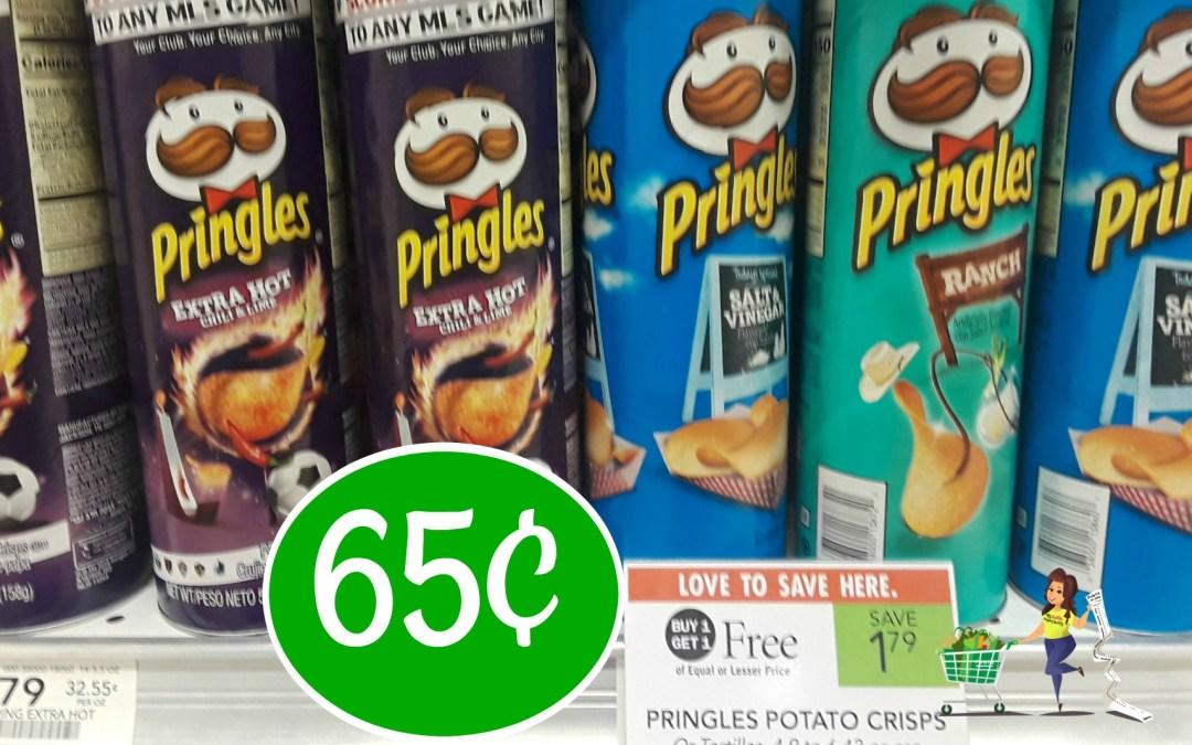 Pringles Potato Crisps 65¢ at Publix