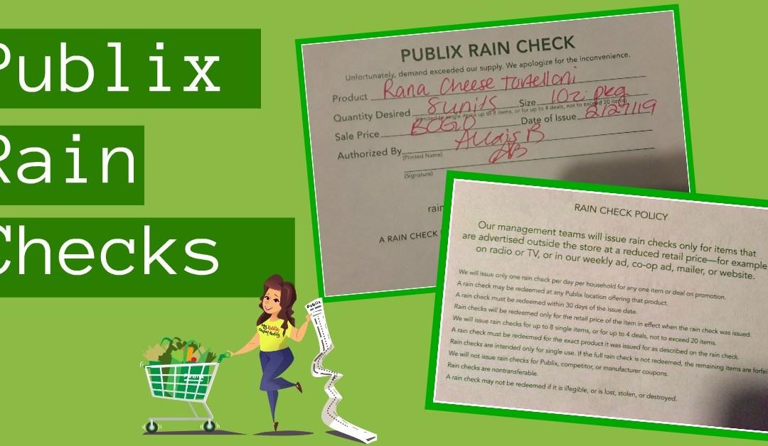 Publix Rainchecks