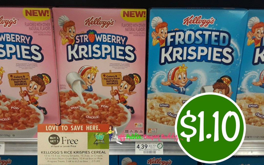 Rice Krispies Cereal $1.10 at Publix