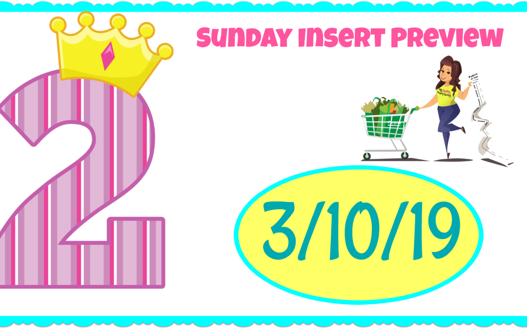 Sunday Coupon Insert Sneak Peek 3/10/19