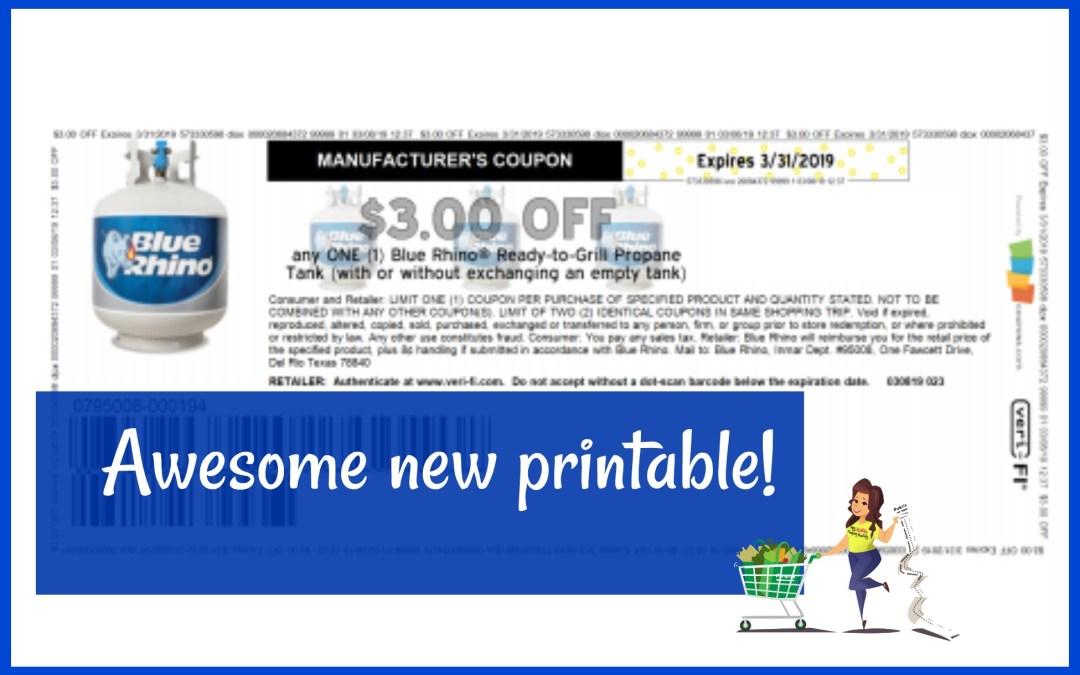 Awesome new Blue Rhino printable coupon