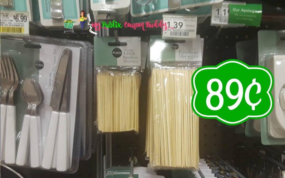 Bamboo Skewers 89¢ at Publix