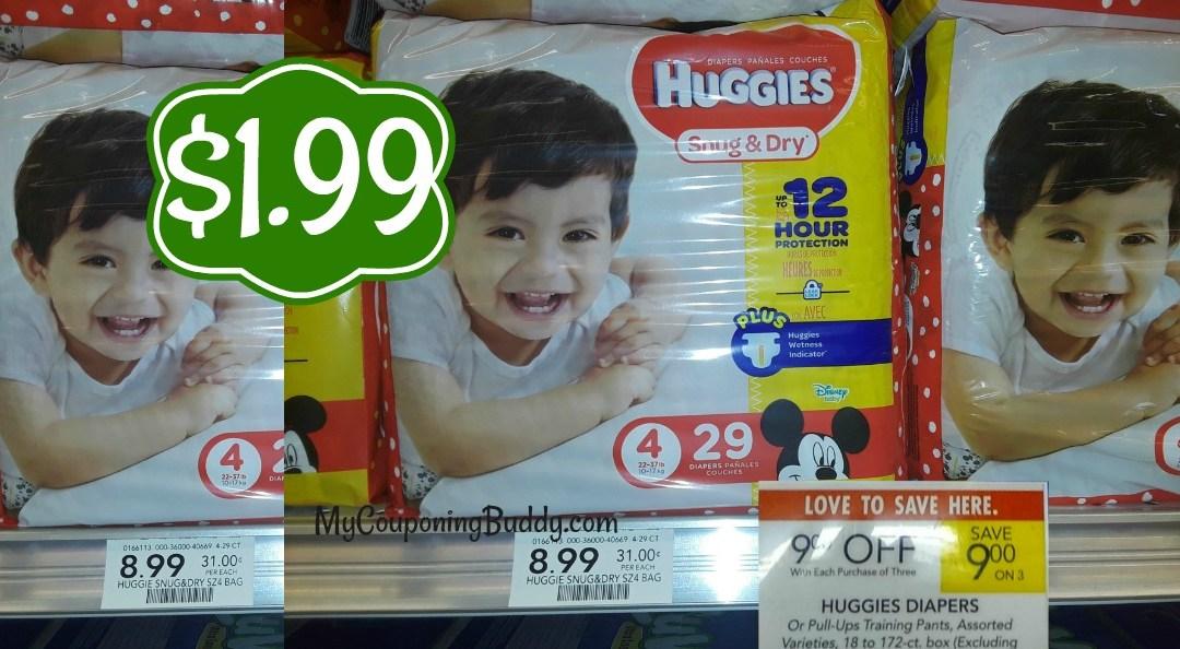 Huggies Snug & Dry Diapers $1.99 At Publix!