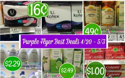 Publix Purple Flyer Best Deals 4/20 – 5/3