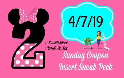 Sunday Coupon Insert Sneak Peek 4/7/19