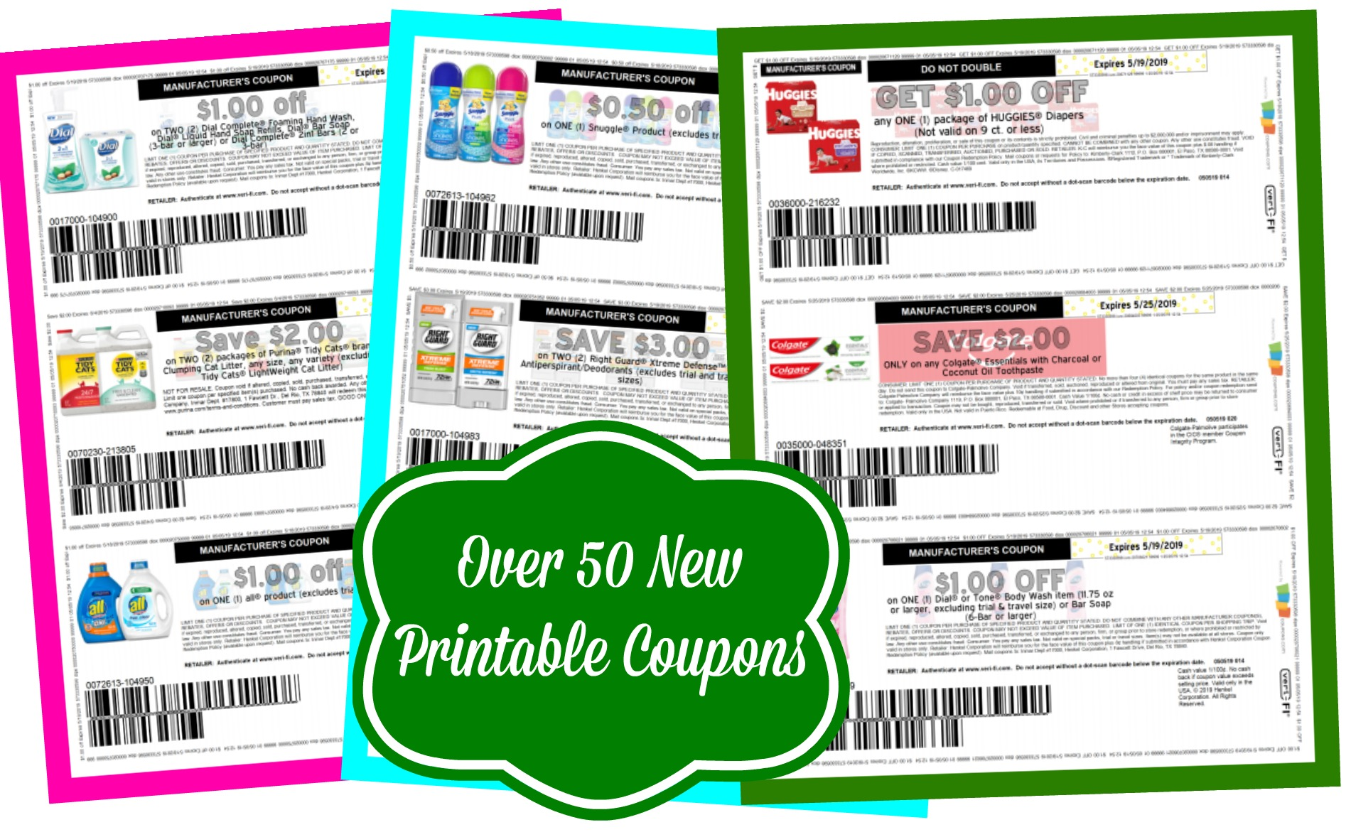 image relating to Huggies Printable Coupons named Previously mentioned 50 Refreshing Printable Discount codes ~ Dial, Huggies, Cheez-it and