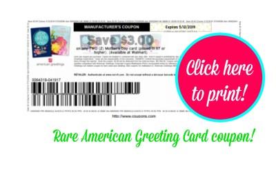 Rare, Regional American Greeting Card Coupon