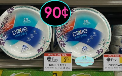 Dixie Paper Plates or Bowls 90¢ at Publix