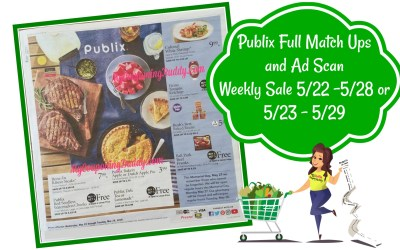 Publix Full Match Ups and Ad Scan Weekly Sale 5/22 -5/28 or 5/23 – 5/29