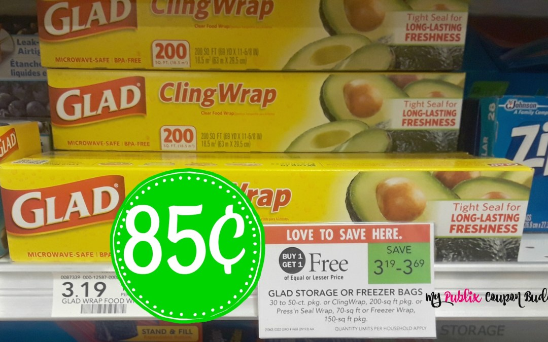 Glad Cling Wrap 85¢ at Publix