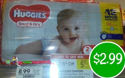 Huggies Diapers $2.99 at Publix