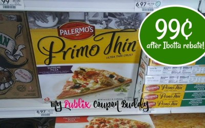 Palermo's Pizza just 99¢ after coupons and Ibotta at Publix