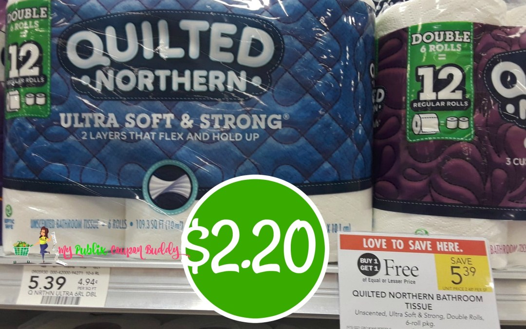 Quilted Northern Bath Tissue $2.20 at Publix
