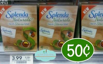 Splends Naturals Sweetener 50¢ at Publix