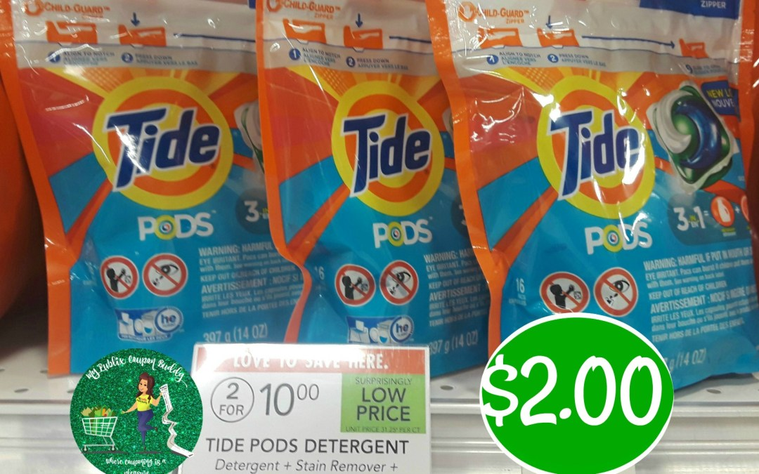 Tide Pods Laundry Detergent $2 at Publix