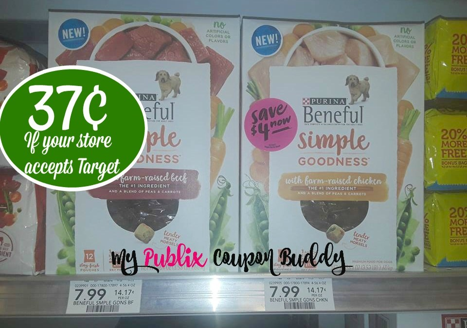 Purina Beneful Simple Goodness 37¢ at Publix (if your store accepts Target as a competitor)