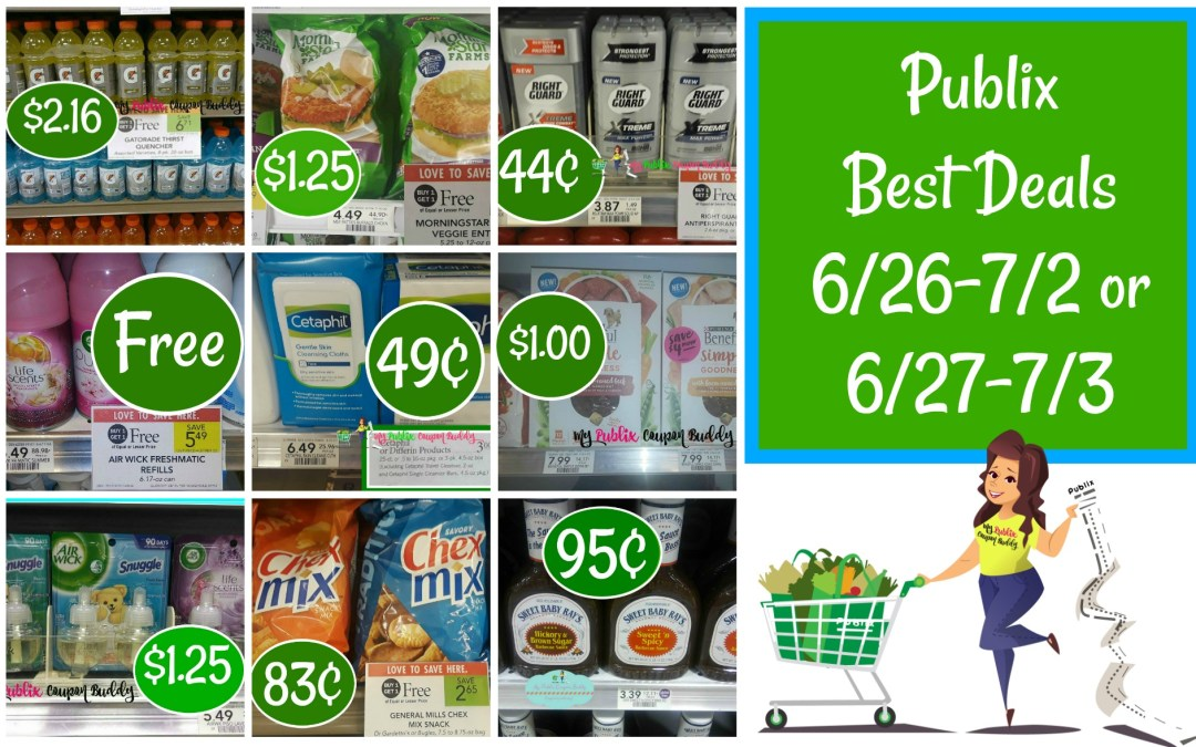 Publix Best Deals 6/26-7/2 or 6/27-7/3