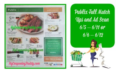 Publix Full Match Ups and Ad Scan Weekly Sale 6/5 – 6/11 or 6/6 – 6/12