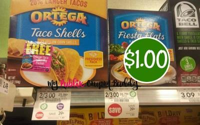 Ortega Shells or Sauce $1 at Publix
