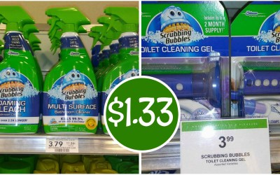 Scrubbing Bubbles Bathroom Cleaners $1.33 ea at Publix