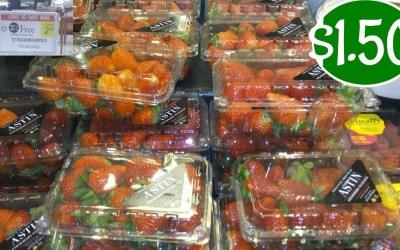 Driscoll's Strawberries $1.50 at Publix