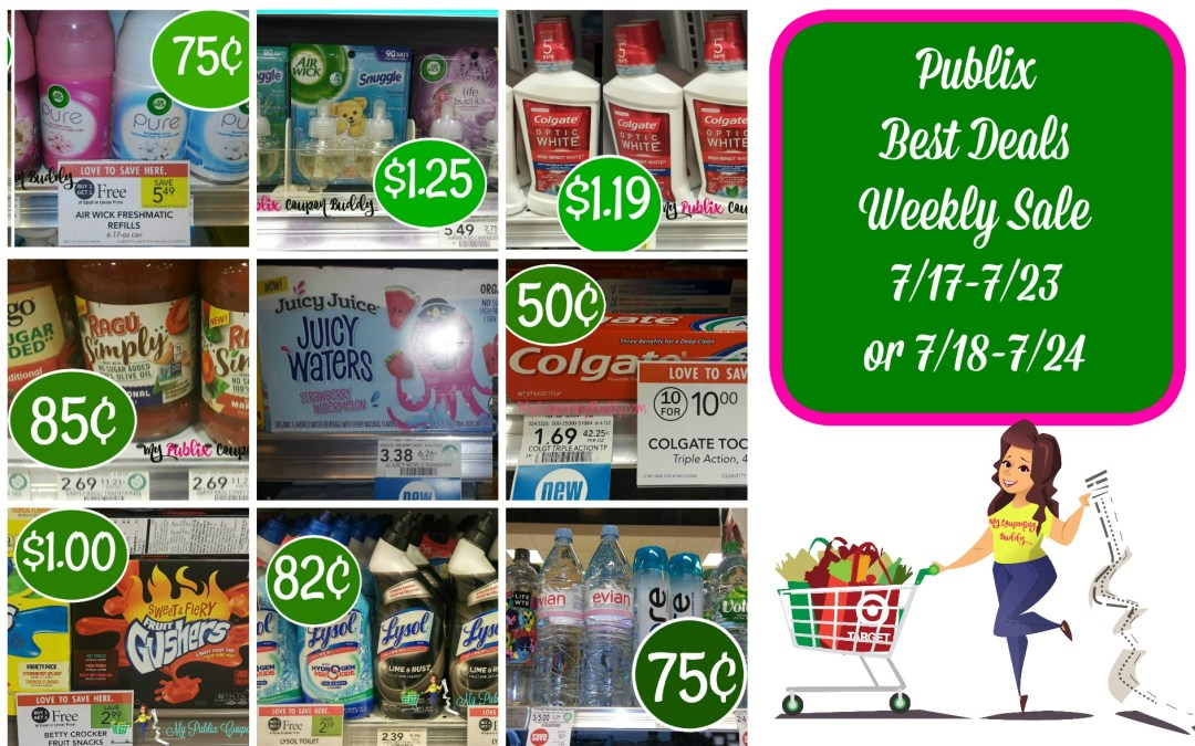 Publix Best Deals Weekly Sale 7/17-7/23 or 7/18-7/24