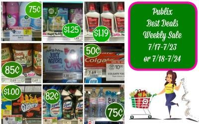 Publix Best Deals Weekly Sale 7/17-7/23 or 7/18-7/24