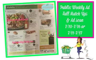 Publix Full Match Ups & Ad Scan 7/10-7/16 or 7/11-7/17