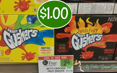 Betty Crocker Fruit Snacks $1 at Publix
