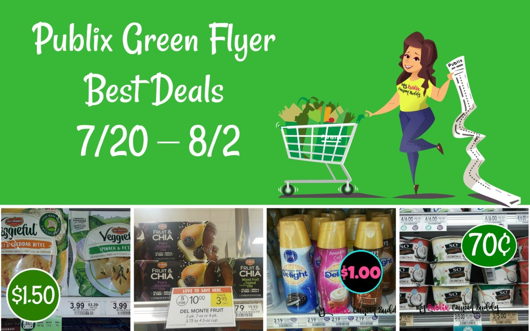 Publix Green Flyer Best Deals  7/20 – 8/2
