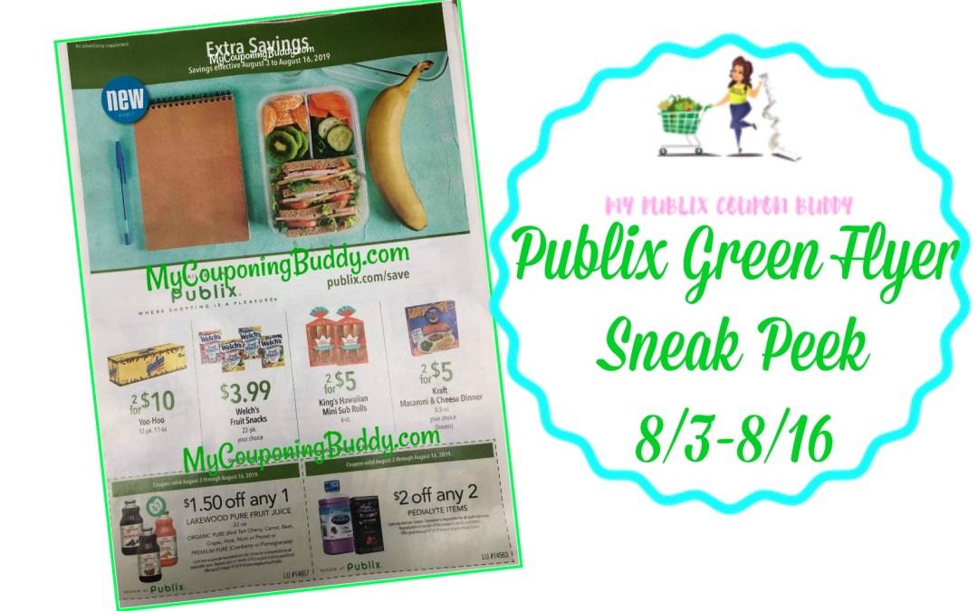 Publix Green Flyer Full Match Ups & Ad Scan 8/3-8/16