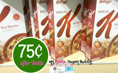 Kellog's Special K Cereals 75¢ after coupons & ibotta