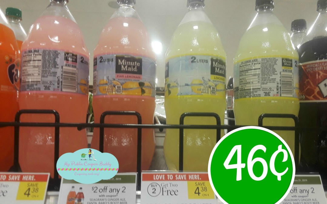 Seagram's Ginger Ale, Fanta, Barq's, Minute Maid & more 46¢ at Publix