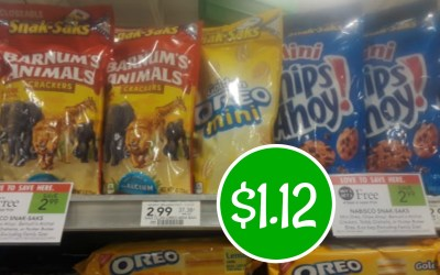 Nabisco Snack Saks $1.12 at Publix