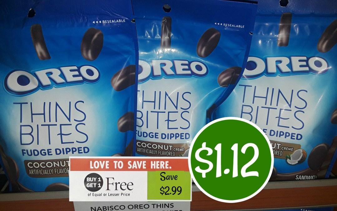 Oreo Thin Bites $1.12 at Publix