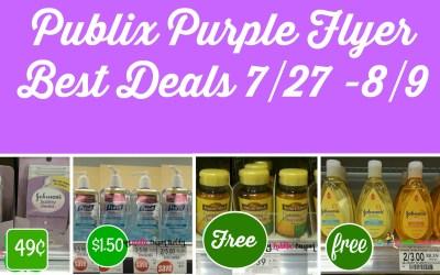 Publix Purple Flyer Best Deals 7/27 -8/9