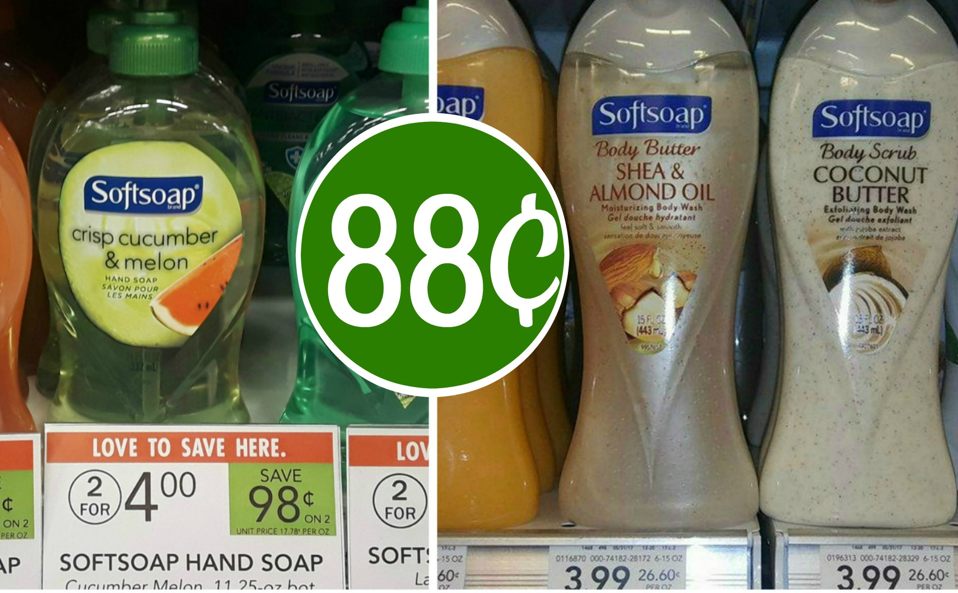 photograph regarding Softsoap Printable Coupon known as Tender Cleaning soap System Clean Hand Cleaning soap 88¢ at Publix My Publix