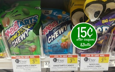 SweetTarts Candy 15¢ after coupons & Ibotta at Publix