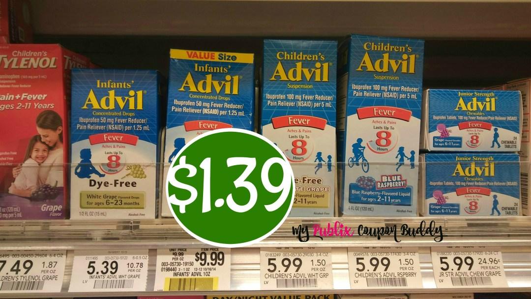 Infant's Advil $1.39 at Publix